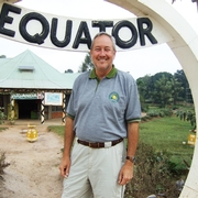 Mike at the equator